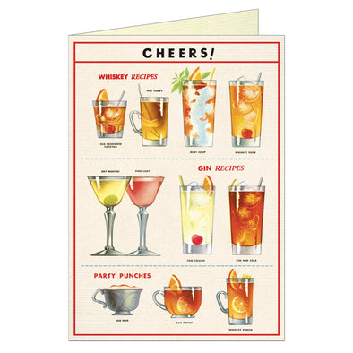 Cavallini Greeting Card Cheers