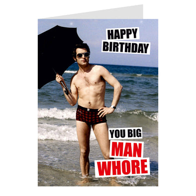 Dean Morris Greeting Card You big man wh***