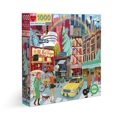 eeBoo 'New York City Life' 1000 Piece Jigsaw Puzzle