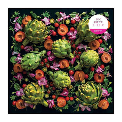 Artichoke Floral 500 Piece Puzzle by Sarah Phillips from Play.Timeout for Big Kids