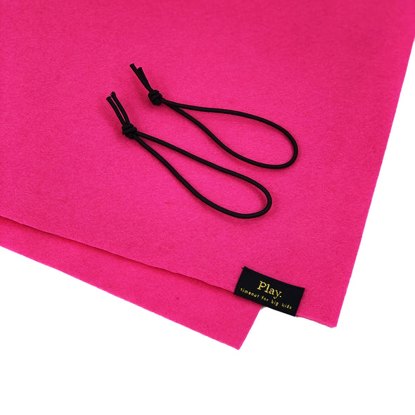 It's a Wrap Puzzle Storage Roll and Mat in Hot Pink Felt