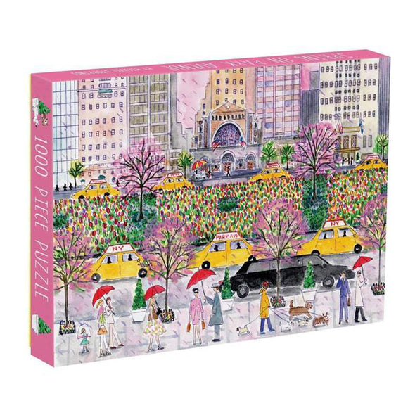 Galison Spring on Park Avenue by Michael Storrings 1000 Piece Puzzle