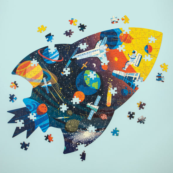 Mudpuppy Shaped Outer Space 300 Piece Jigsaw Puzzle