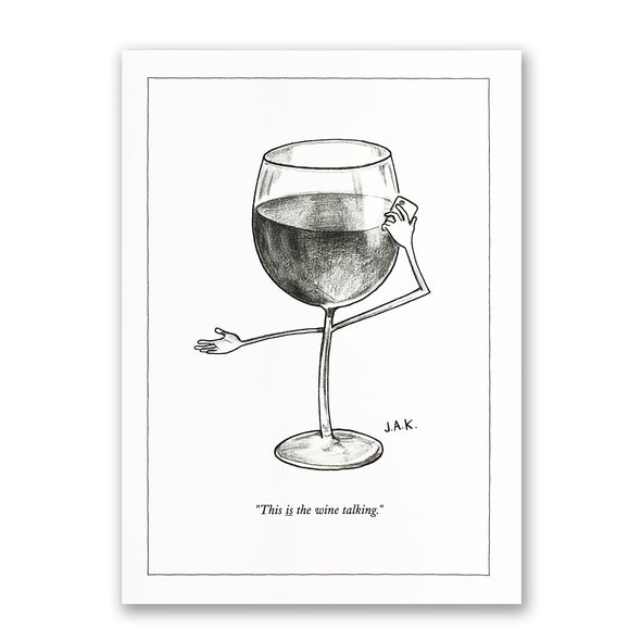 The New Yorker Greeting Card 'This is the wine talking'