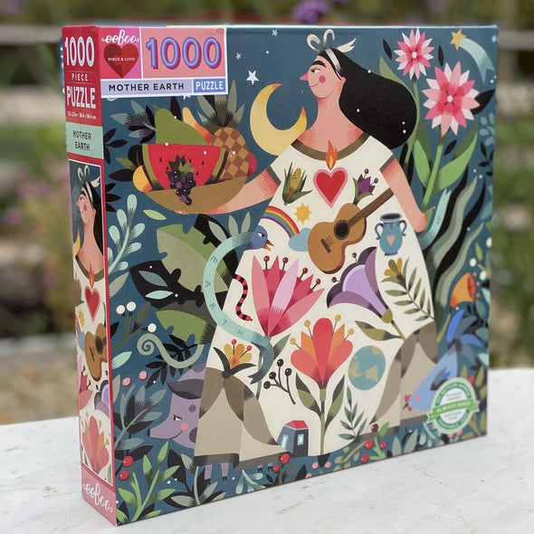 eeBoo Mother Earth Jigsaw Puzzle for Adults, 1000 Pieces