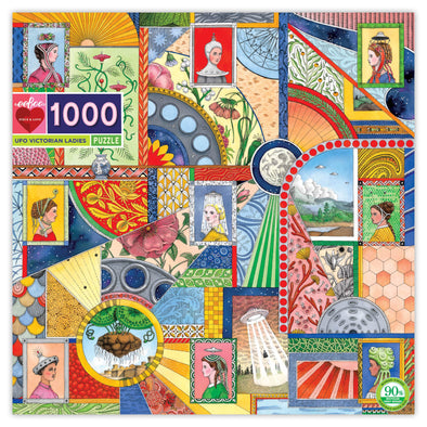 eeBoo 'UFO Victorian Ladies' 1000 Piece Puzzle for Adults