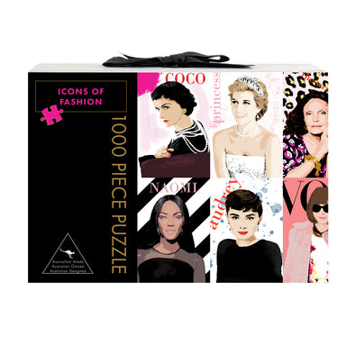 Play Timeout 'Icons of Fashion' 1000 Piece Jigsaw Puzzle & Mat