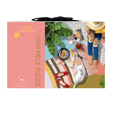 Play Timeout 'Rosé & Sunshine' 1000 Piece Jigsaw Puzzle & Mat