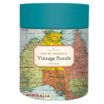 Cavallini & Co. Map of Australia Vintage Puzzle 500 Pieces