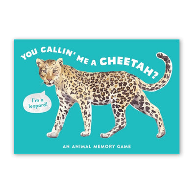 You Callin' Me a Cheetah? (Pss! I'm a Leopard!) An Animal Memory Game
