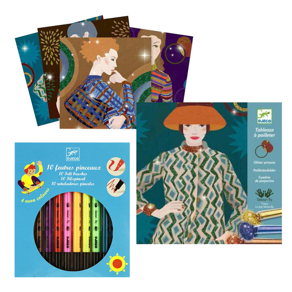 DJECO Quarantine Activity Pack - Glitter Pictures 50% off RRP