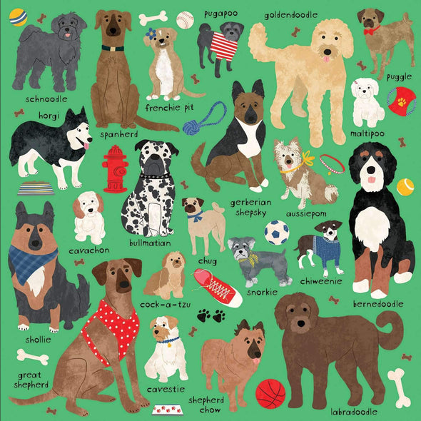 Mudpuppy Doodle Dog And Other Mixed Breeds 500 Piece Family Puzzle