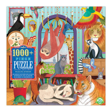 eeBoo Wildlife Interiors 1000 Piece Puzzle