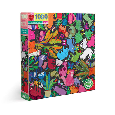 eeBoo 'Cats at Work' 1000 Piece Puzzle