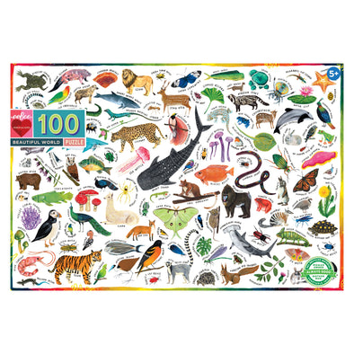 eeBoo Beautiful World 100 Piece Puzzle