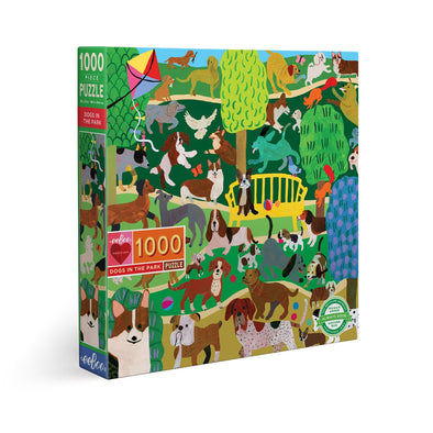 Eeboo Dogs in the Park 1000 Jigsaw Puzzle