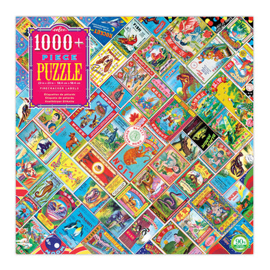 eeBoo 'Firecracker Labels' 1000 Piece Puzzle