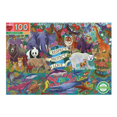 eeBoo Planet Earth 100 Piece Jigsaw Puzzle