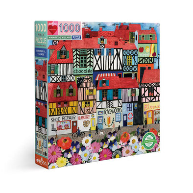 eeBoo Whimsical Village 1000 Piece Jigsaw Puzzle