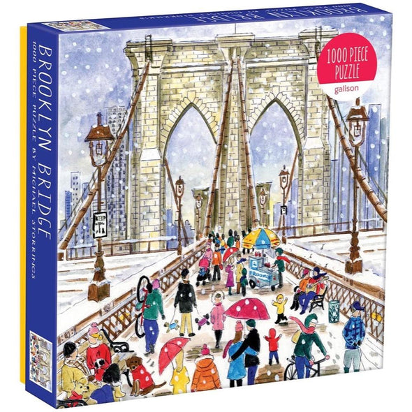 Galison Brooklyn Bridge by Michael Storrings 1000 Piece Jigsaw Puzzle