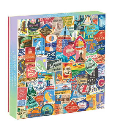Vintage Travel Luggage Labels 500 Piece Puzzle
