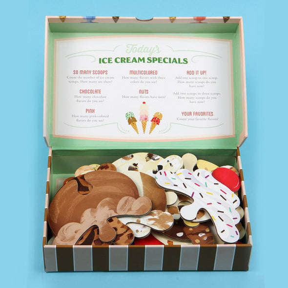 Ice Cream Scoop Puzzle Countless Sweet Creations with 32 Flavors