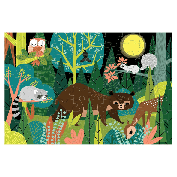 Mudpuppy In the Forest 100 Piece Glow in the Dark Puzzle