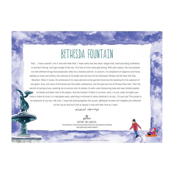 Galison Bethesda Fountain by Michael Storrings 1000 Piece Jigsaw Puzzle