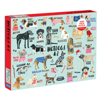 Mudpuppy 'Hot Dogs A-Z' 1000 Piece Puzzle