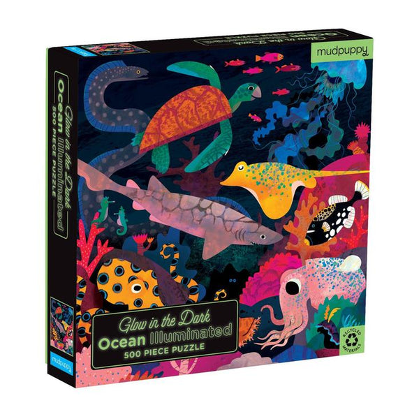 Mudpuppy Ocean Illuminated 500 Piece Glow in the Dark Puzzle