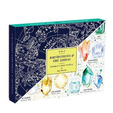 Birthstones & the Zodiac 2-sided 500 Piece Puzzle