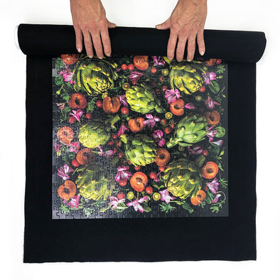 It's a Wrap Puzzle Storage Roll and Mat in Black Felt