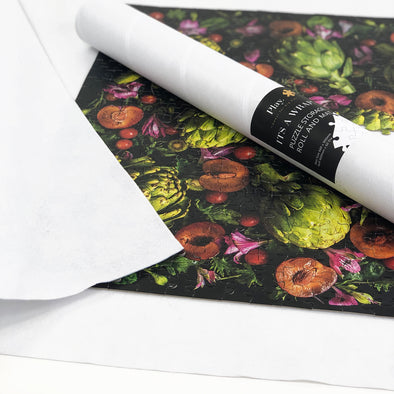 It's a Wrap Puzzle Storage Roll and Mat in White Felt