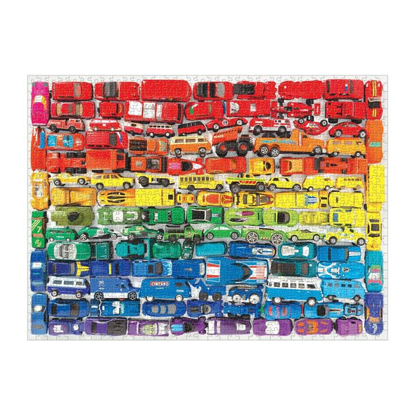 Galison's Rainbow Toy Cars 1000 Piece Puzzle