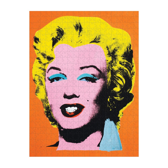 Galison Andy Warhol Marilyn Double-Sided 500 Piece Jigsaw Puzzle