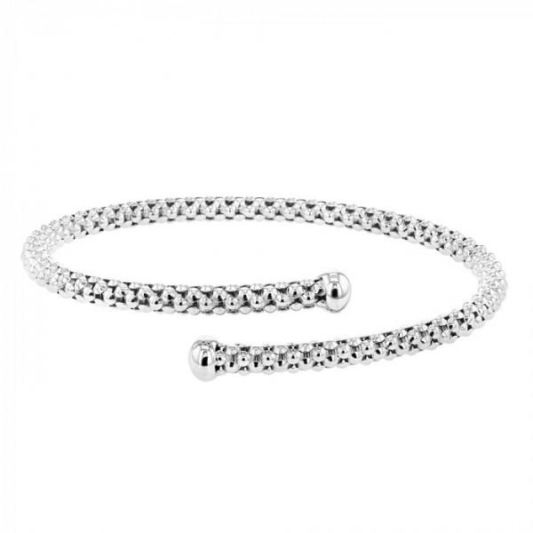 CHIMENTO DIAMOND ACCENT COIL WRAP CUFF BRACELET, 18K WHITE GOLD - M&R Jewelers