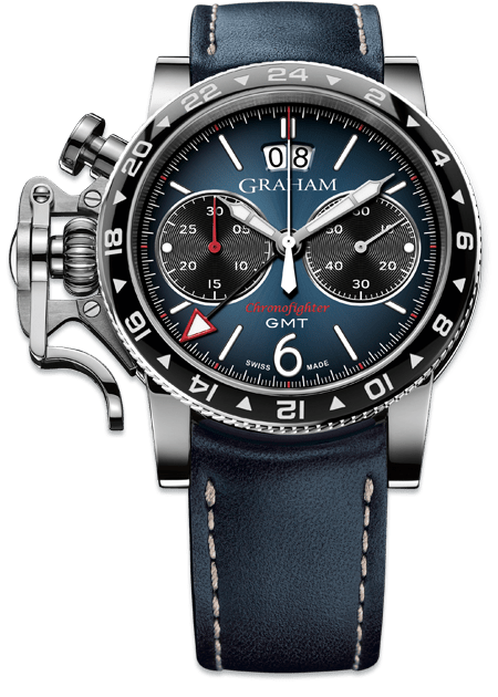 GRAHAM CHRONOFIGHTER VINTAGE GMT 2CVBC.U02A - M&R Jewelers