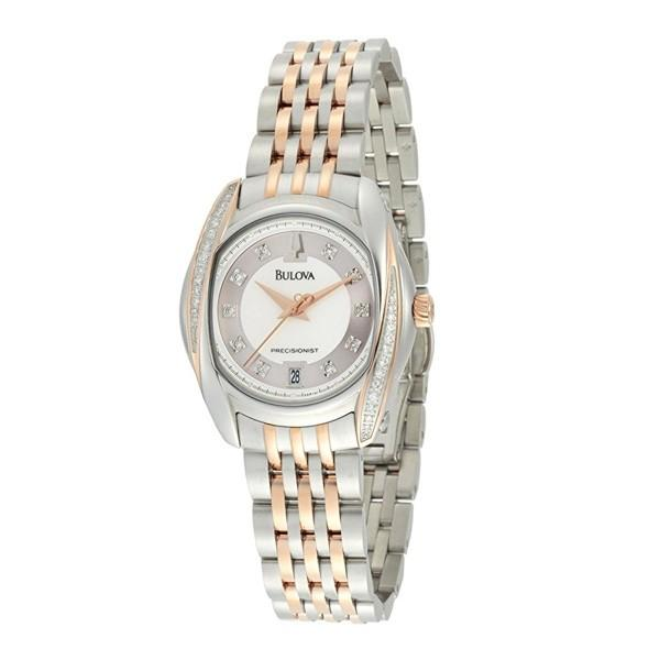 BULOVA WOMEN'S 98R141 PRECISIONIST TANGLEWOOD DIAMOND TWO-TONE BRACELET WATCH - M&R Jewelers
