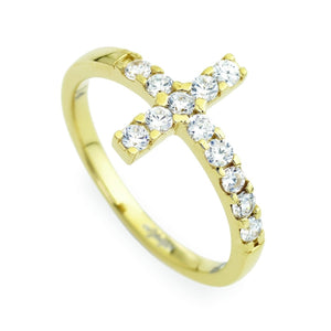 Cross Rings with Colored Cubic Zirconia - M&R Jewelers
