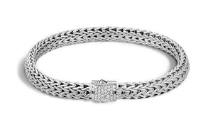 Classic Chain Bracelet with Diamonds - M&R Jewelers