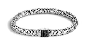 Classic Chain Bracelet with Black Sapphire - M&R Jewelers