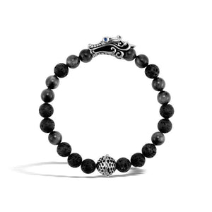Naga Bead Bracelet with Eagle Eye and Black Volcanic - M&R Jewelers