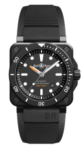 BR 03-92 DIVER BLACK MATTE - M&R Jewelers
