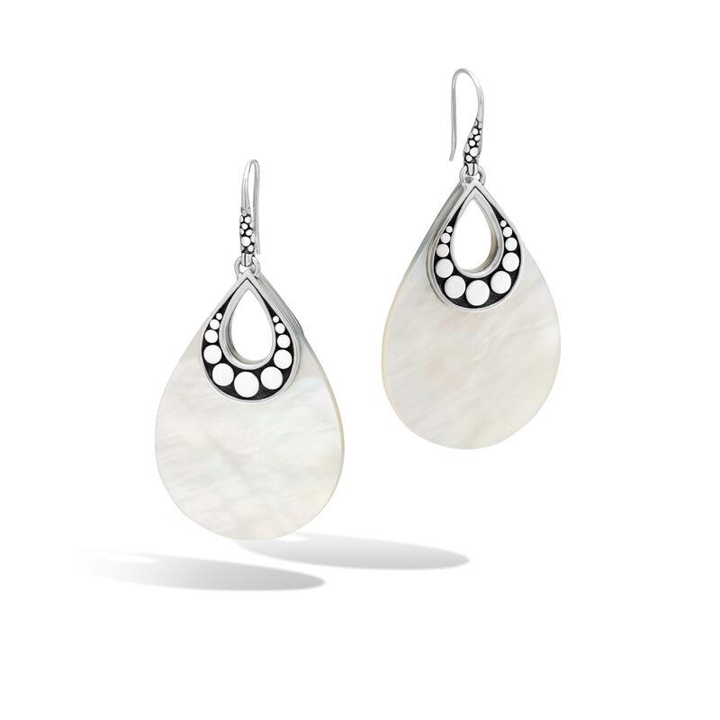 Drop Earring with White Mother of Pearl - M&R Jewelers