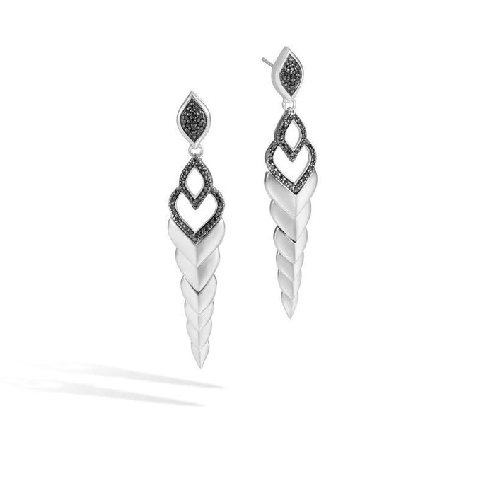 Naga Drop Earring with Black Sapphire, Black Spinel - M&R Jewelers