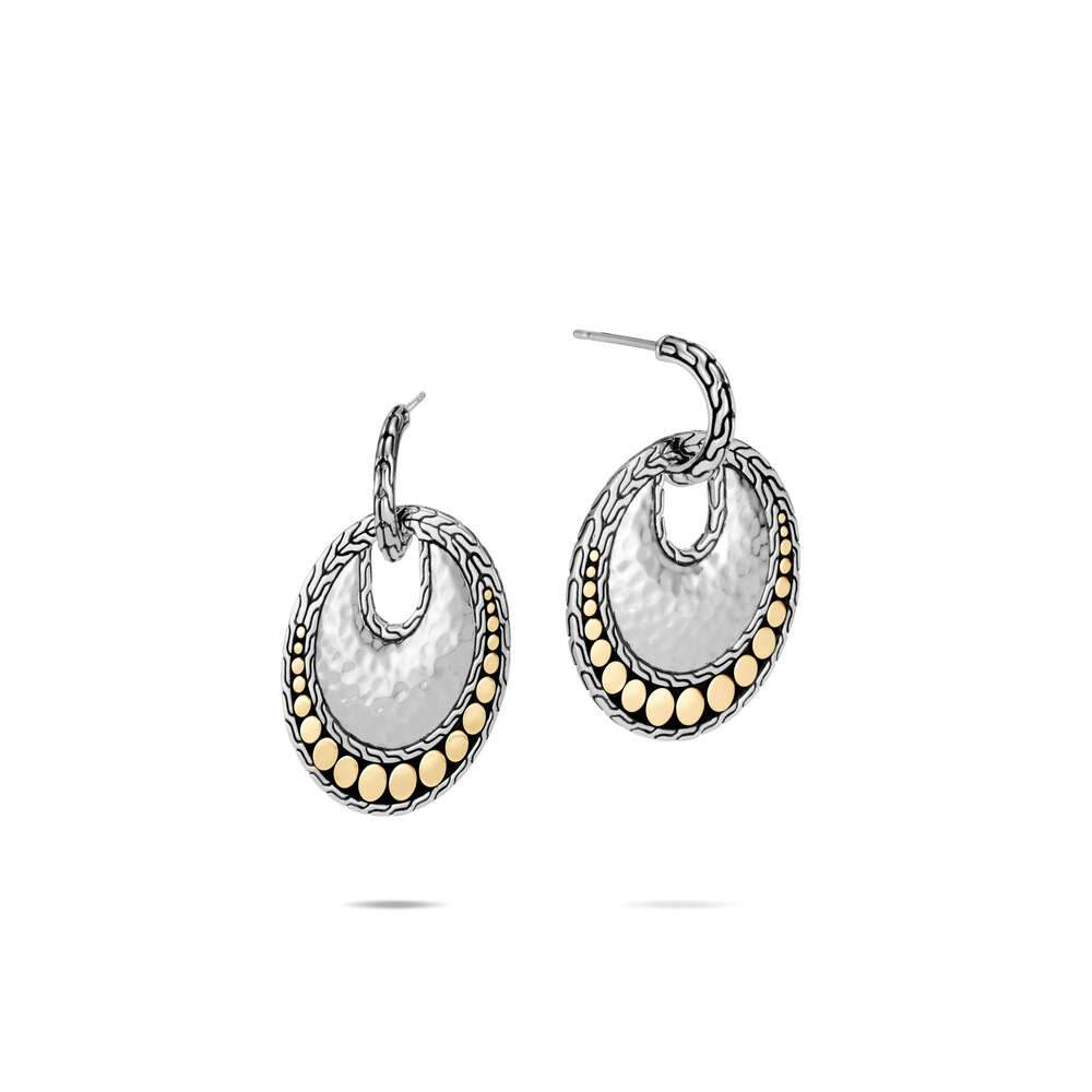 John Hardy HAMMERED SMALL DISC EARRING EZ30068