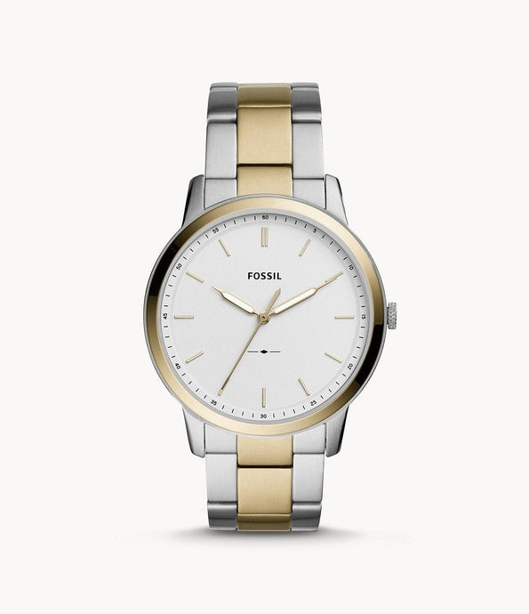 FOSSIL THE MINIMALIST THREE-HAND TWO-TONE STAINLESS STEEL WATCH - M&R Jewelers