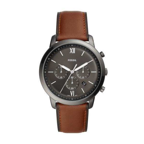 FOSSIL NEUTRA CHRONOGRAPH AMBER LEATHER WATCH - M&R Jewelers