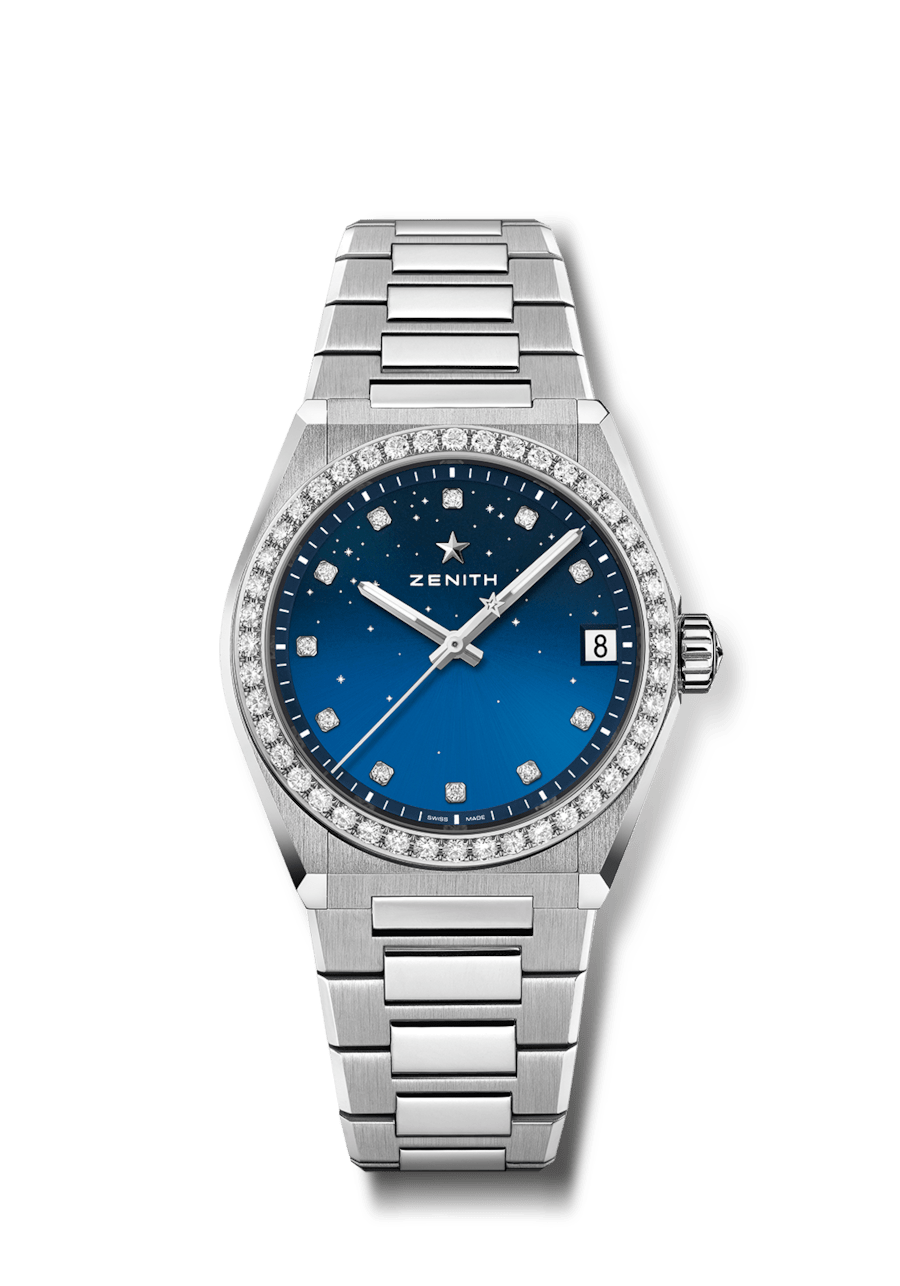 ZENITH DEFY MIDNIGHT BLUE DIAMOND LADIES WATCH 16.9200.670/01.MI001
