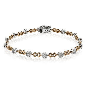 SIMON G 18K GOLD WHITE LB2197 BRACELET - M&R Jewelers